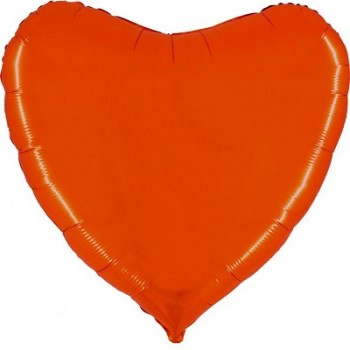Palloncino Mylar Jumbo 91 cm. Cuore Arancio