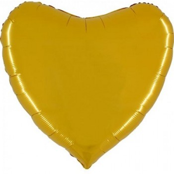 Palloncino Mylar Jumbo 91 cm. Cuore Oro