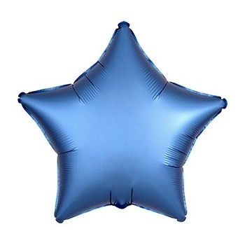 Palloncino Mylar 45 cm. Stella Blu Satinato