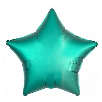 Palloncino Mylar 45 cm. Stella Verde Tiffany Satinato
