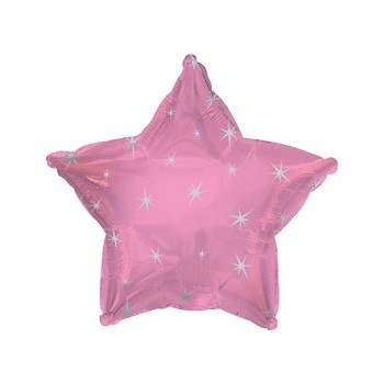 Palloncino Mylar 45 cm. Pink Sparkle Star