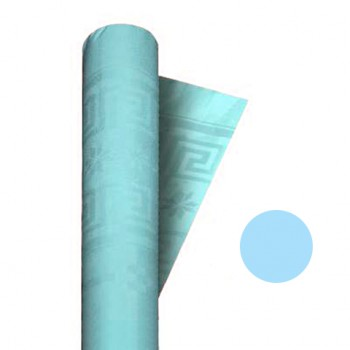 Tovaglia in Carta Damascata Azzurro 1,20 x 7 mt.