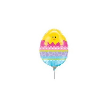 Palloncino Mylar Mini Shape 35 cm. Mini Chick in Easter Egg