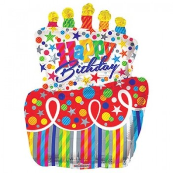 Palloncino Mylar Super Shape 96 cm. Big Cake Birthday