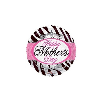 Palloncino Mylar Mini Shape 22 cm. Mom Zebra Pattern