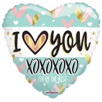 Palloncino Mylar 45 cm. I Love You Turquoise Heart