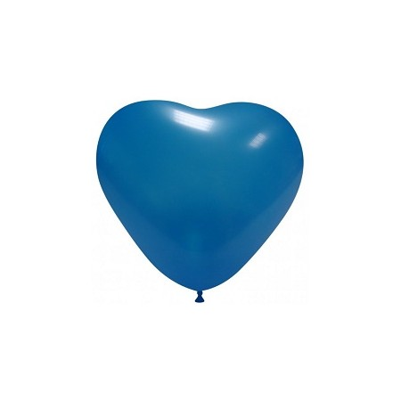 Palloncino in Lattice Cuore 25 cm. Blu