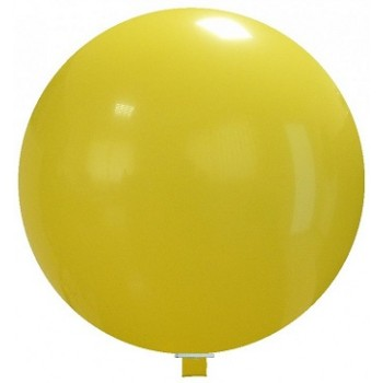 Palloncino in Lattice Mongolfiera 80 cm. Giallo - Round