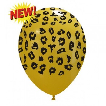 Palloncino in Lattice Rotondo 30 cm. Stampa Leopardo