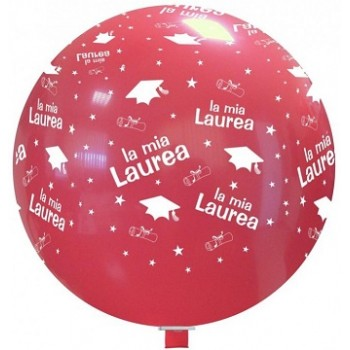 Palloncino in Lattice Rotondo 80 cm. Stampa Laurea