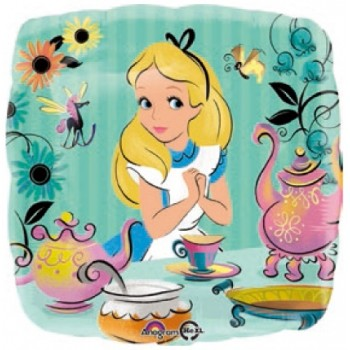 Palloncino Mylar 45 cm. Alice in Wonderland