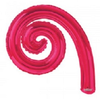 Palloncino Mylar Mini Shape 35 cm. Spirale Corallo