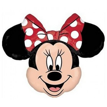 Palloncino Mylar Super Shape 60 cm. Minnie Mouse Shape Red