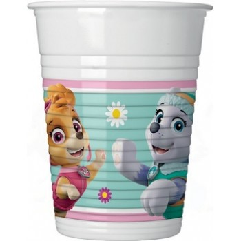 Bicchiere plastica 200 ml Paw Patrol Skye and Everest - 8 pz