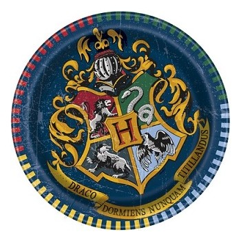 Piatti carta 17 cm Harry Potter 8 pz.