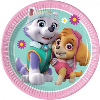 Piatto 20 cm Paw Patrol Skye and Everest - 8 pz