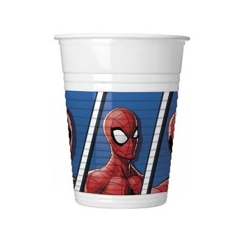 Bicchieri plastica 200 ml Spider-Man 8 pz.