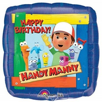 Palloncino Mylar 45 cm. Handy Manny Happy Birthday