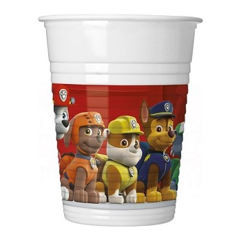 Bicchiere plastica 200 ml Paw Patrol - Ready for Action - 8 pz