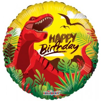 Palloncino Mylar 45 cm. Happy Birthday Dinosaur