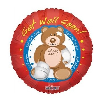 Palloncino Mylar 45 cm. Get Well Bear