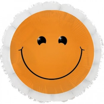 Palloncino Mylar 45 cm. Smiley Neon Orange