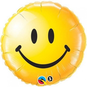 Palloncino Mylar 45 cm. Yellow Smiley Face