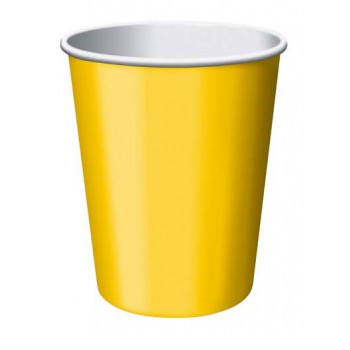 Bicchiere Giallo 266 ml. 8 pz