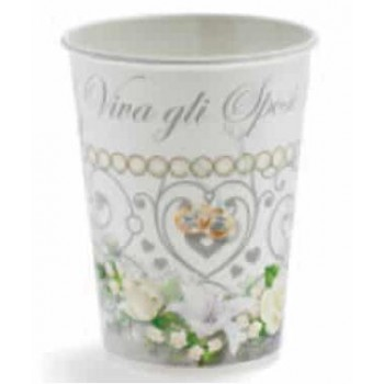 Bicchieri carta 200 ml Matrimonio 10 pz.