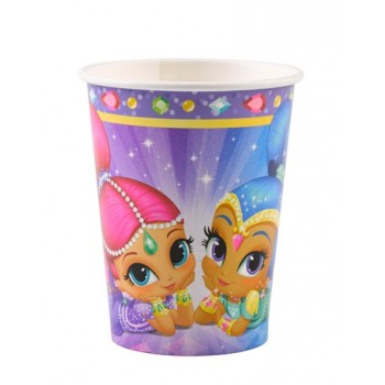 Bicchieri carta 250 ml Shimmer & Shine 8 pz.