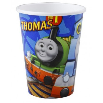 Bicchieri carta 266 ml Trenino Thomas 8 pz.