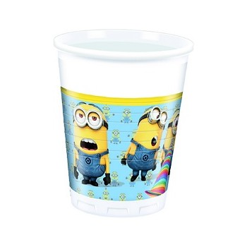 Bicchieri Plastica 200 m.l Lovely Minions 8 pz.