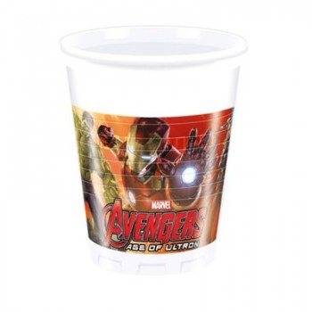 Bicchieri plastica 200 ml Avengers 8 pz.
