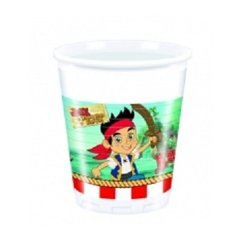 Bicchieri plastica 200 ml Jake e i Pirati 8 pz.