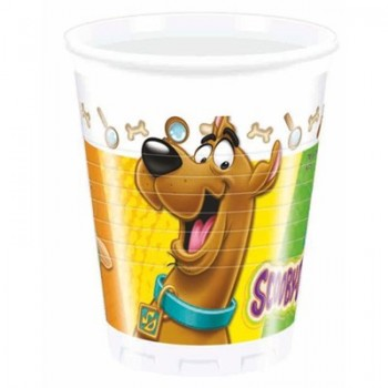 Bicchieri plastica 200 ml Scooby-Doo 8 pz.