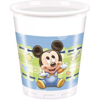 Bicchieri Plastica 200 ml Topolino Baby 8 pz.