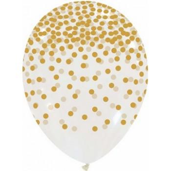 Confezione di 48 lettere adesive per palloncini, h 5,5 cm. 48 Etichette, 6 colori x 8cu. per ogni confezione di lettera