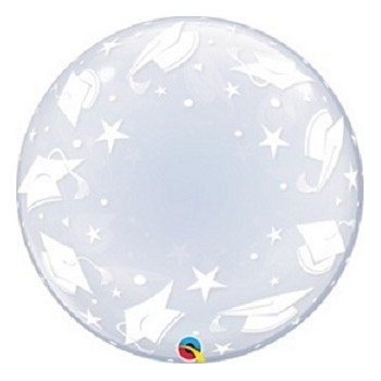 Palloncino Bubble Bubble Graduation Caps 61 cm.