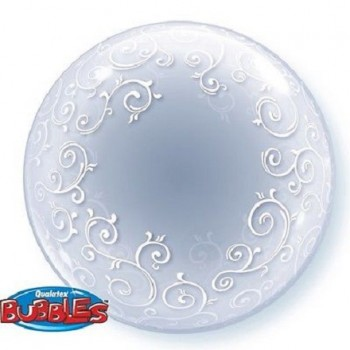 Palloncino Bubble Fancy Filigree 61 cm.