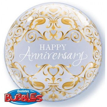 Palloncino Bubble Single Anniversary Classic 56 cm.