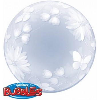 Palloncino Deco Bubble Butterflies And Flowers 51 cm.