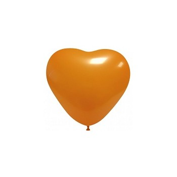 Palloncino in Lattice Cuore 12,5 cm. Arancio