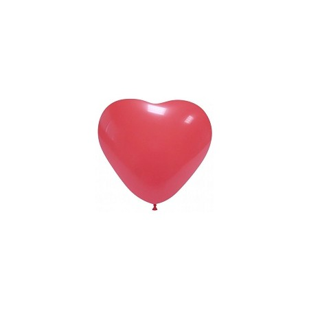 Palloncino in Lattice Cuore 12,5 cm. Rosso