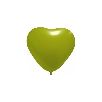 Palloncino in Lattice Cuore 12,5 cm. Verde Lime
