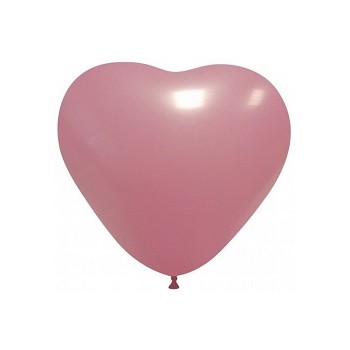 Palloncino in Lattice Cuore 25 cm. Rosa