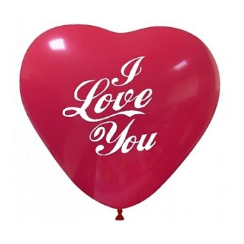 Palloncino in Lattice Rotondo 25 cm. Stampa I Love You