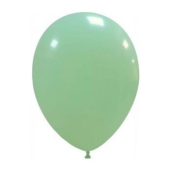 Palloncino in Lattice Rotondo 30 cm. Verde Macaron