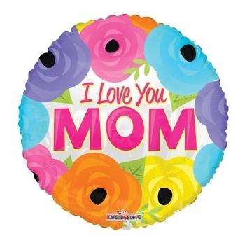Palloncino in Lattice Rotondo 30 cm. Blu Chiaro
