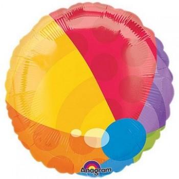 Palloncino in Lattice Rotondo 30 cm. Stampa 18° Compleanno Assortiti