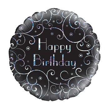 Palloncino in Lattice Rotondo 30 cm. Stampa Pois Rosa Baby